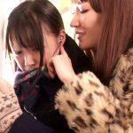 【痴漢レズ動画】受験控えた真面目な女子校生を予備校帰りの電車で痴女二人が背後から手マンww