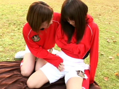 【ふたなりレズ動画】女子サッカー部の先輩と後輩…ロリ顔に極太チンポ生えた後輩と生セックスww