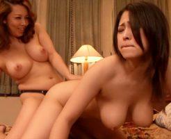 【巨乳SEXレズ動画】義妹を夜中に寝取る義姉…妹のJカップ爆乳を揉みペニバンで若妻を洗脳していくww