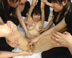 【エステレズ動画】知らずに入店した女性客を縛り6人のエステティシャンにレイプされるロリ巨乳ww