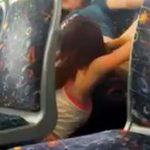 【素人盗撮レズ動画】電車の座席の影に隠れてレズカップルがクンニしてるところを一般人が隠し撮り流出…