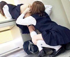 【JKクンニレズ動画】チア部の先輩後輩は友達以上の関係…学校の女子トイレや教室で場所問わず愛撫ww
