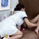 【エステ盗撮レズ動画】足元の視界奪われた女性客…美人エステティシャンの手マンとクンニで赤面ww