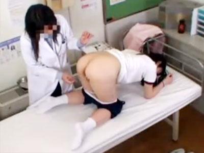 【女子校生盗撮レズ動画】胸のシコリが気になる思春期真っ最中のJKの胸やオマンコをマッサージする保健室の先生ww